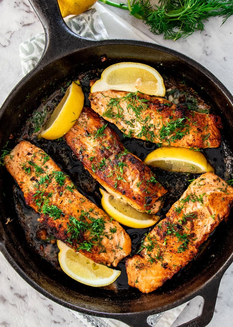 Lemon Dill Pan Fried Salmon