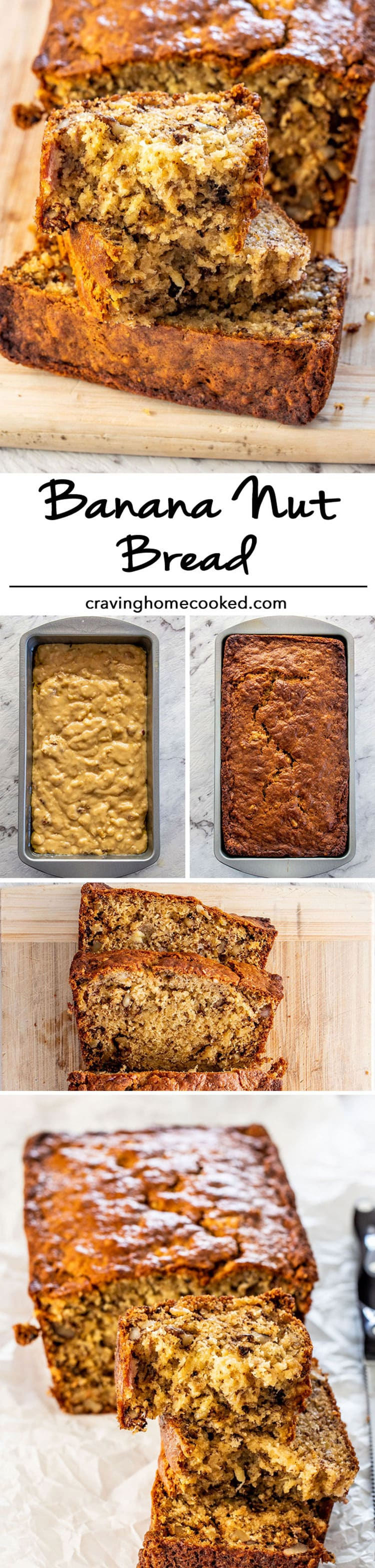This is simply The Best Banana Nut Bread recipe out there! We're talking moist, delicious, perfectly sweetened and nutty. No mixer needed and quick and easy to make! #banananutbread #bananabread #bananas