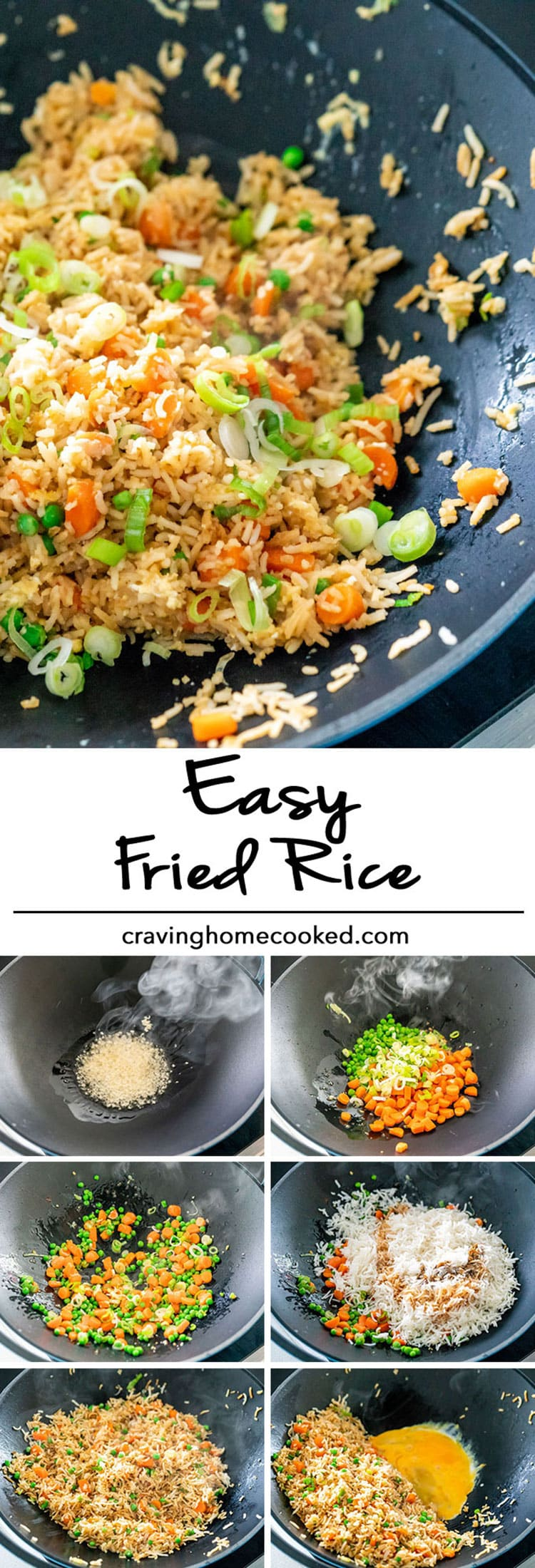 Easy fried rice craving home cooked super quick and easy fried rice in less than 10 minutes this fried rice is ccuart Choice Image