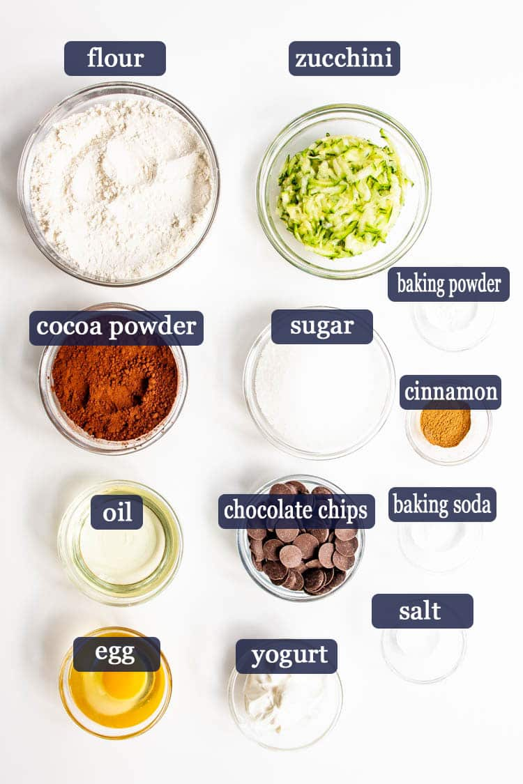 Chocolate Zucchini Bread Ingredients