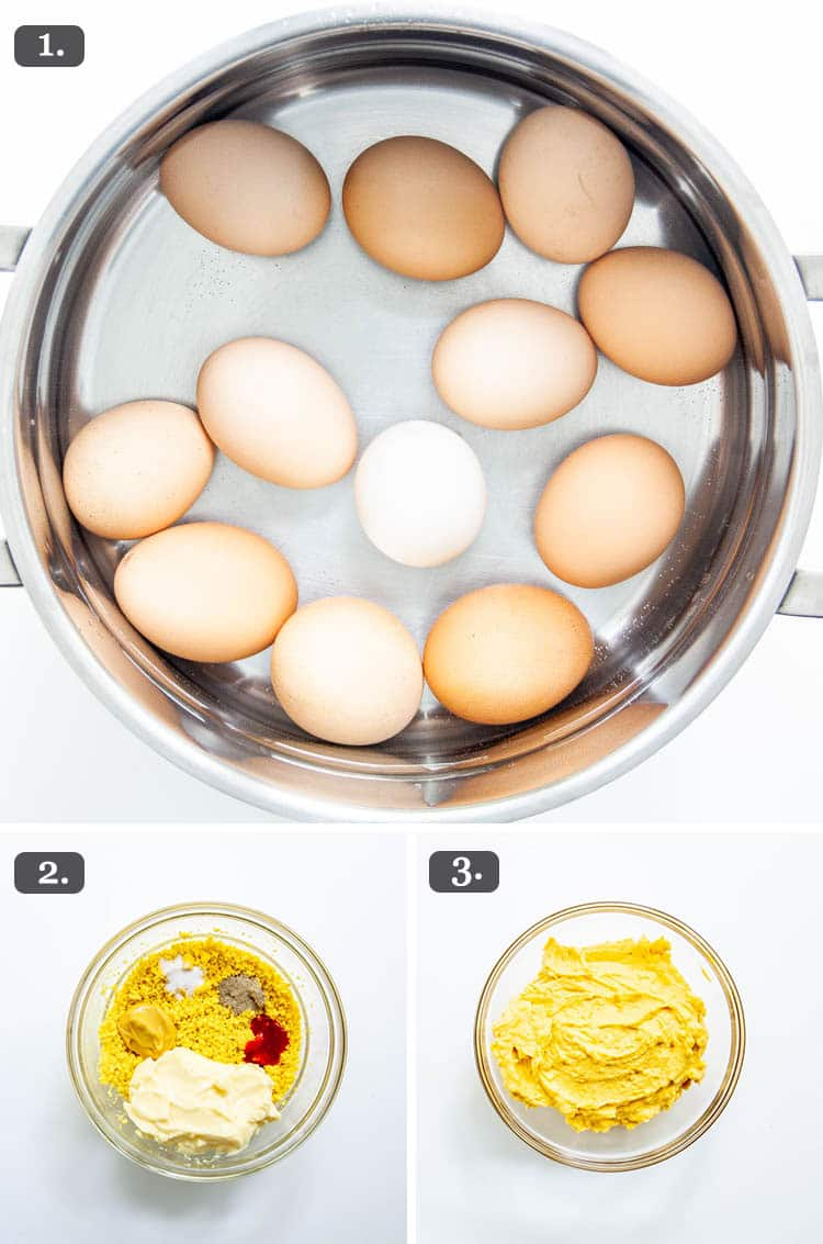Deviled Eggs process shots