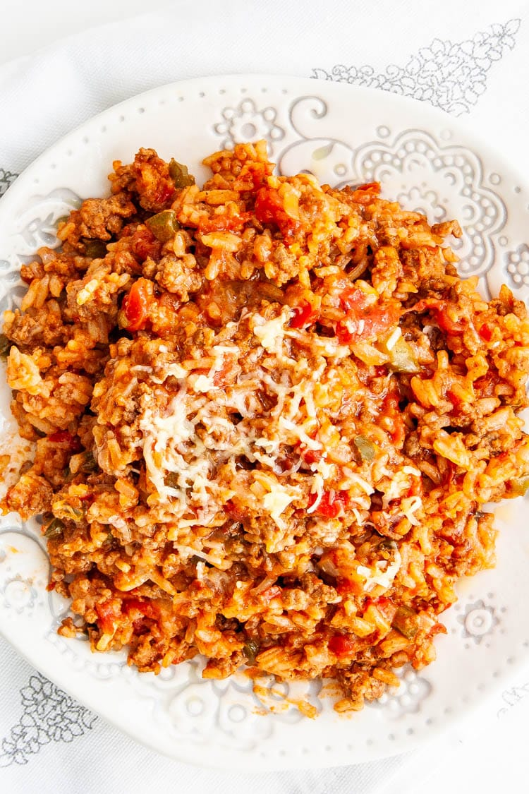 Spanish Rice With Ground Beef Craving Home Cooked