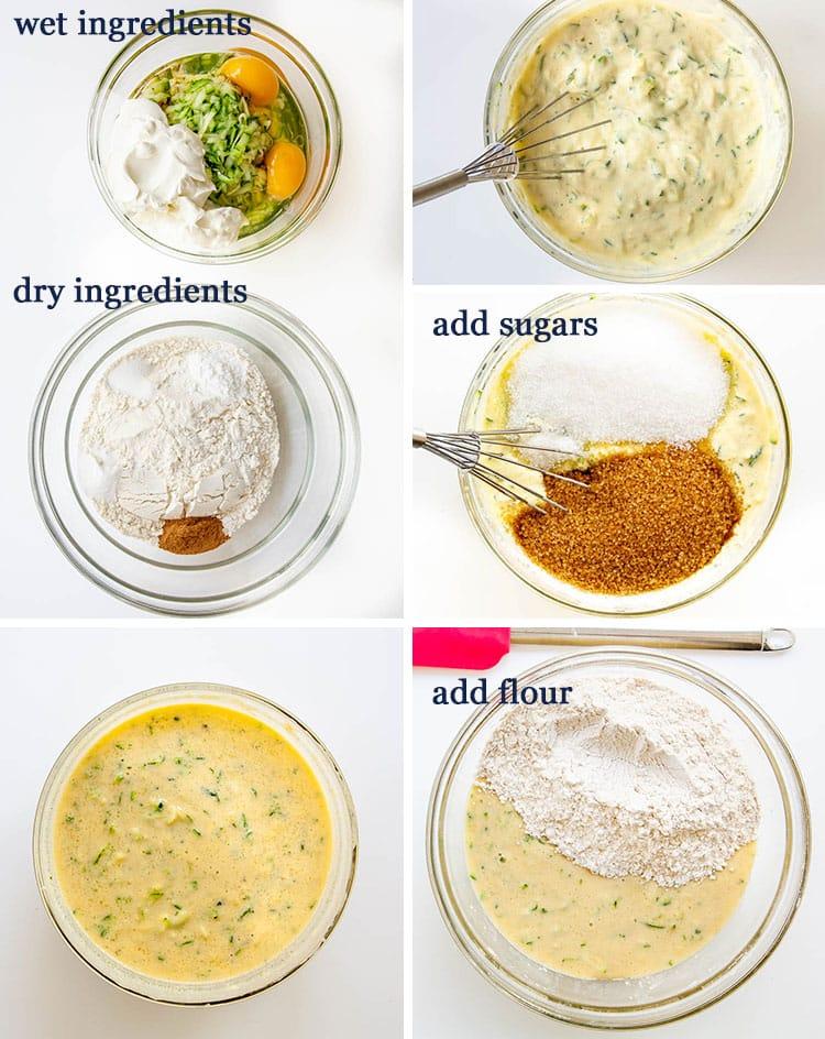 Zucchini Bread process shots