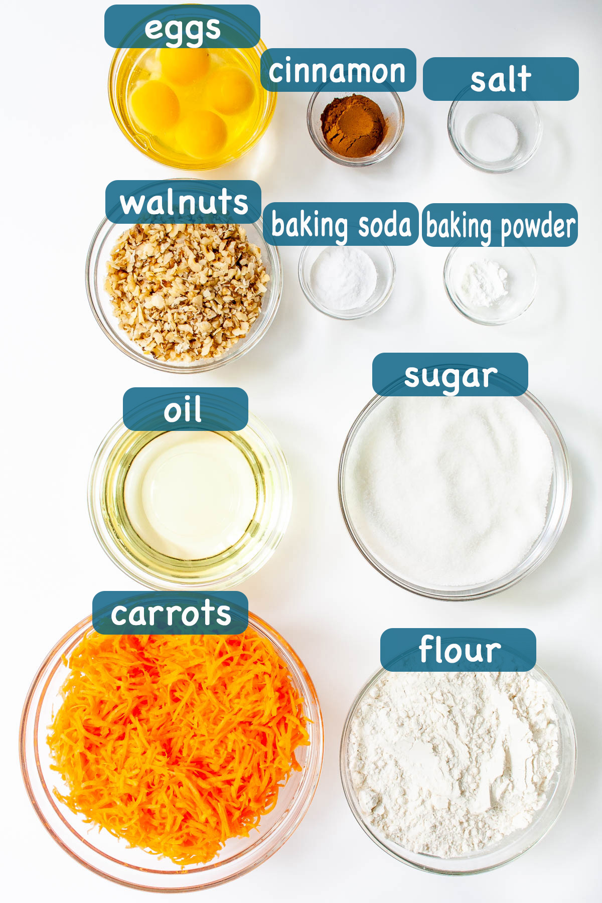 ingredients needed for carrot cake