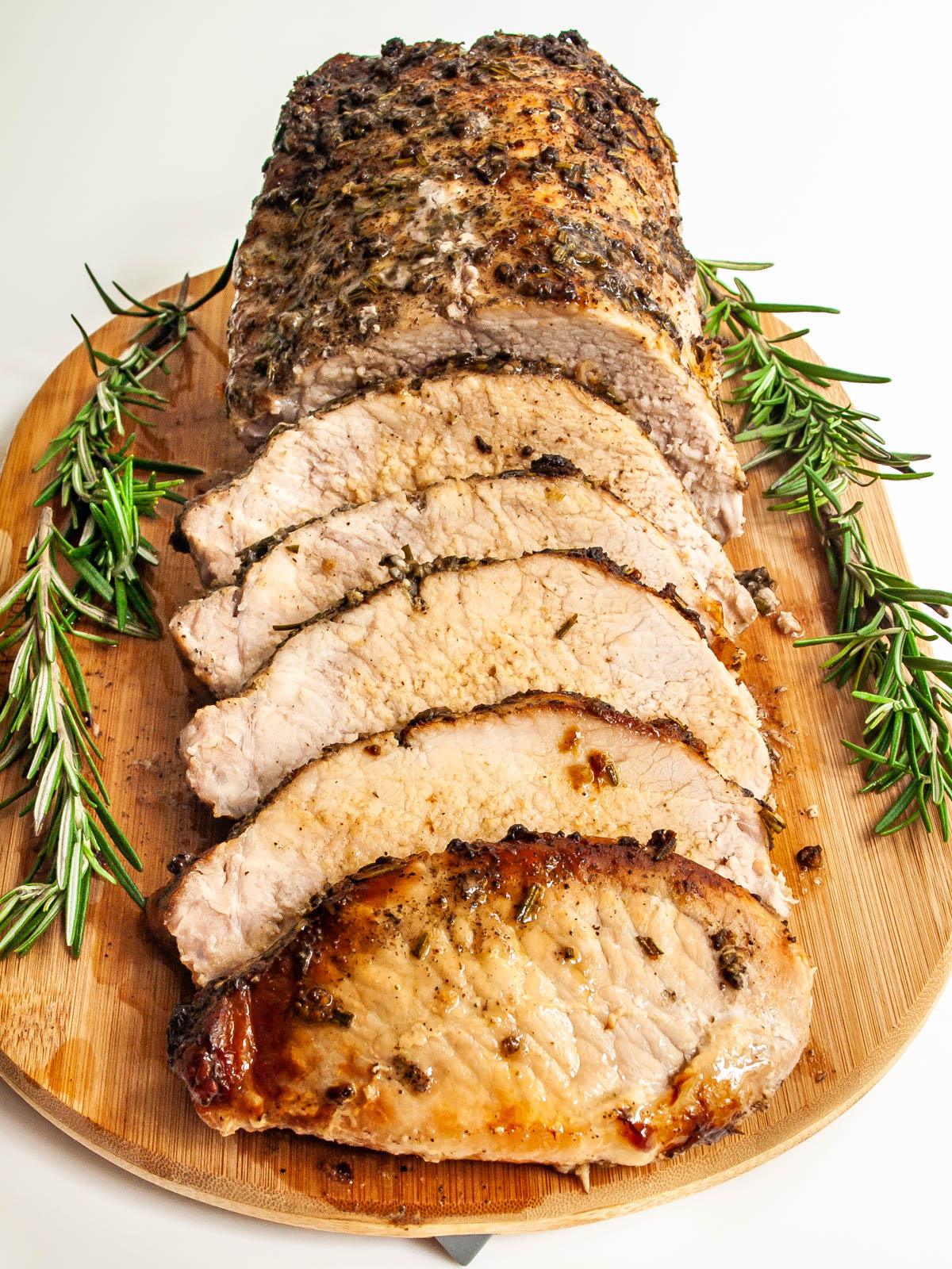 Pork Loin Roast on a cutting board