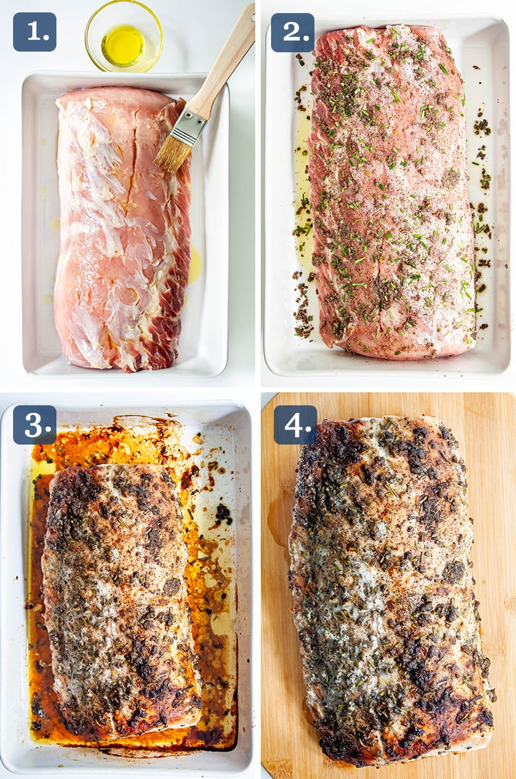 Pork Loin Roast process shots