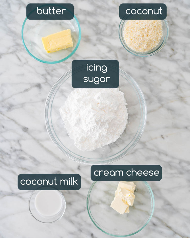 ingredients in coconut icing