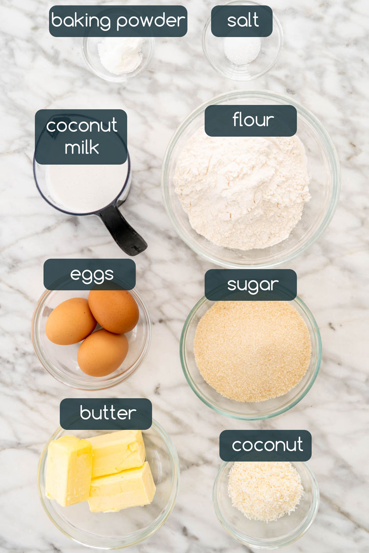 ingredients in coconut cake