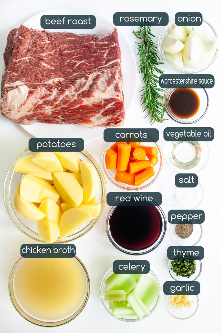 ingredients used to make easy pot roast