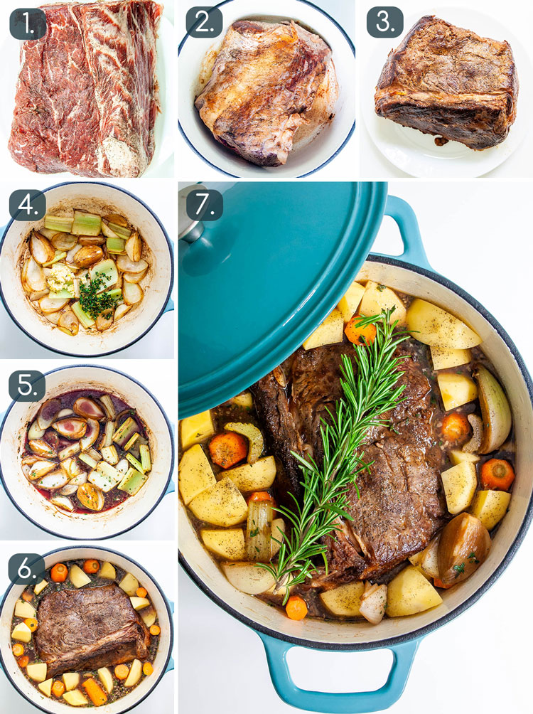 step photos for making easy pot roast