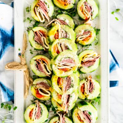 Cucumber Sandwich Bites