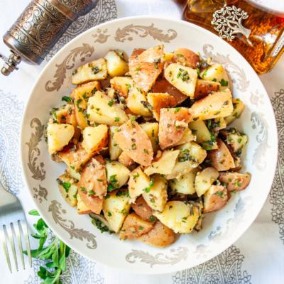 Garlic Herb Red Potato Salad