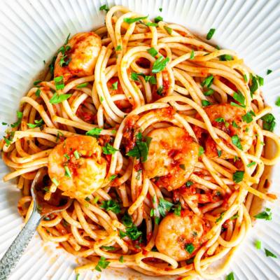 Tomato Shrimp Pasta