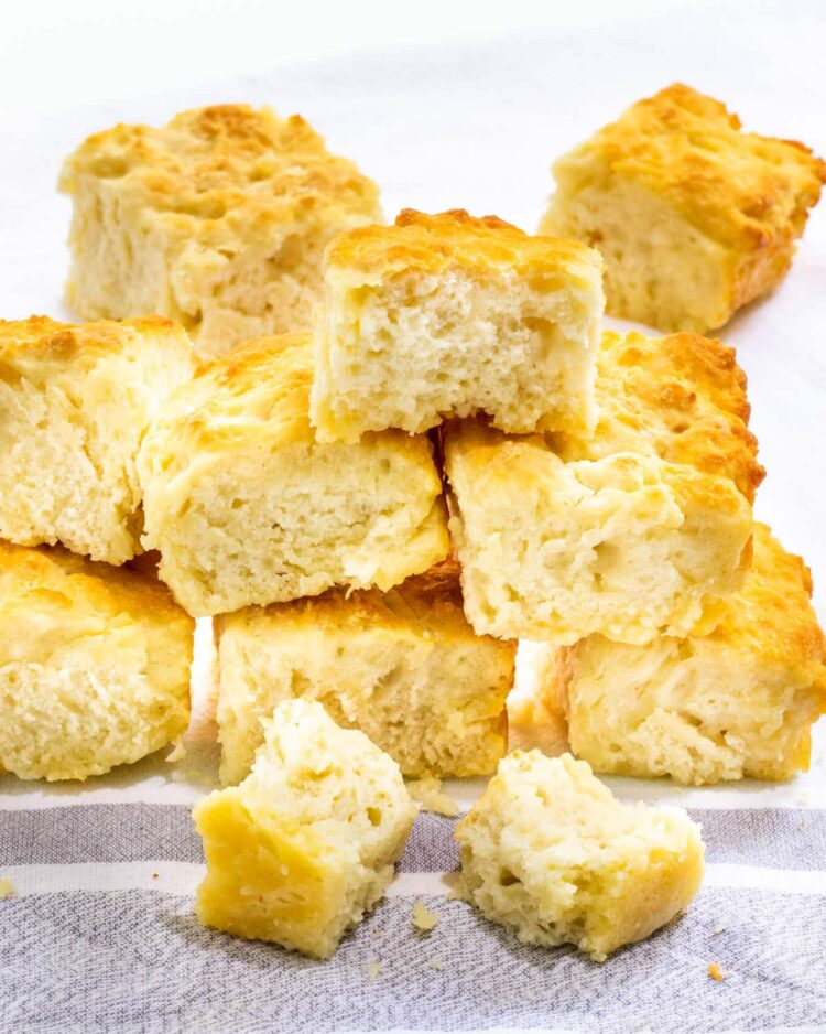 a stack of butter biscuits