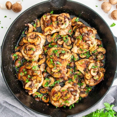 Skillet Chicken and Mushrooms