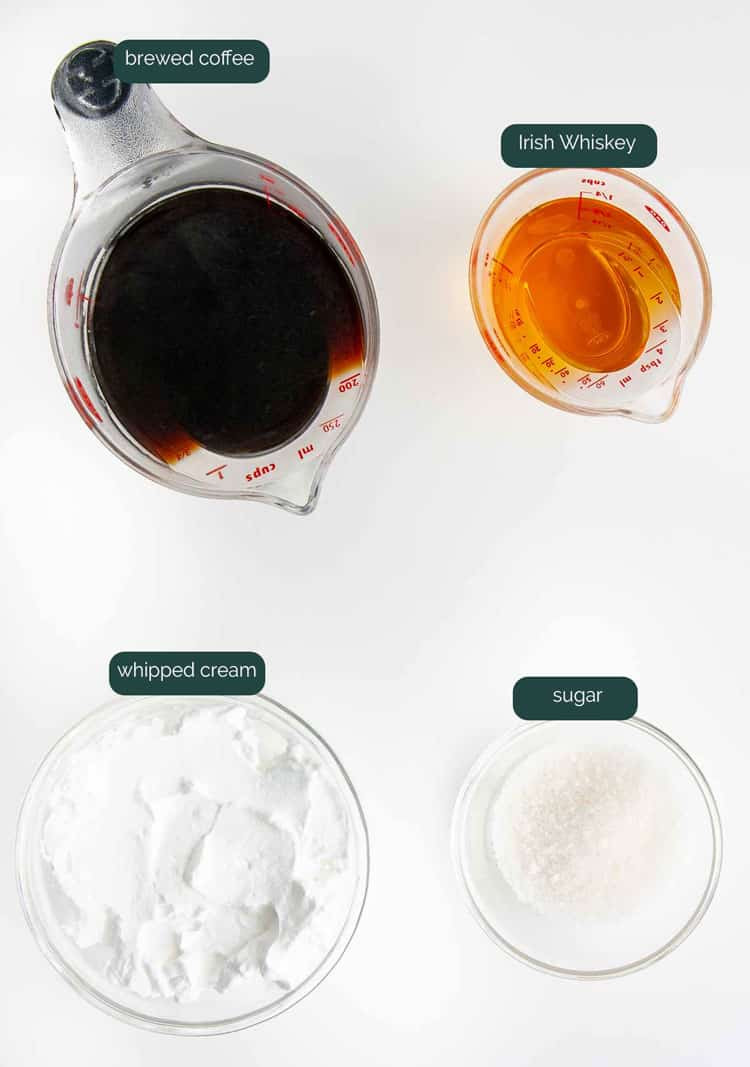 ingredients needed to make irish coffee