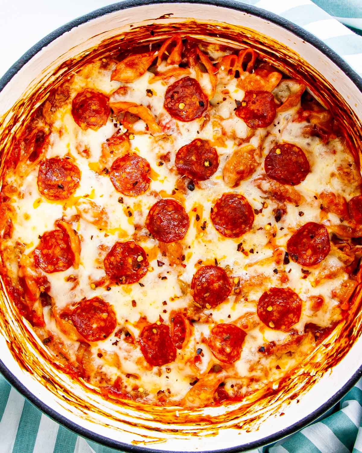 Pepperoni Pizza Pasta Craving Home Cooked