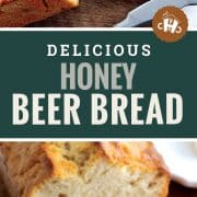 pin for honey beer bread.