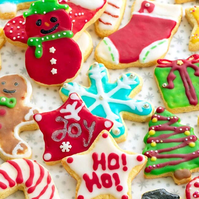 beautifully decorated sugar cookies.