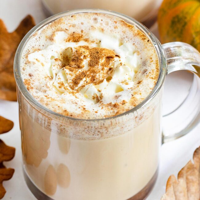 a cup of pumpkin spice latte.