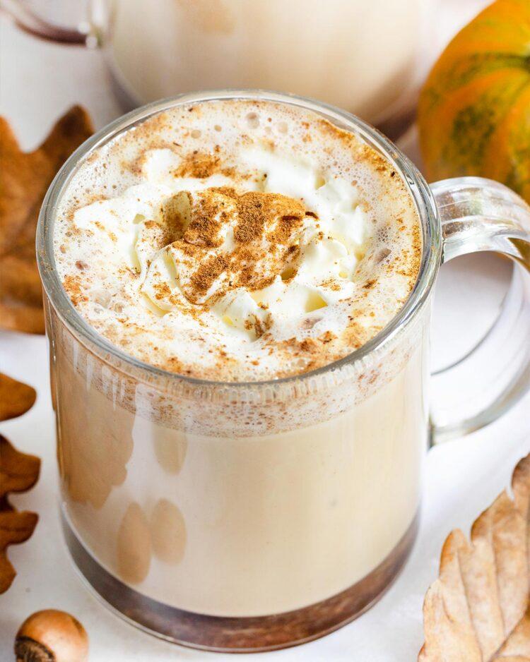 a cup of pumpkin spice latte.