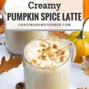 pin for pumpkin spice latte.