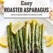 pin for roasted asparagus.