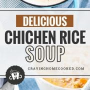 pin for chicken and rice soup.