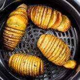 hasselback potatoes in an air fryer.