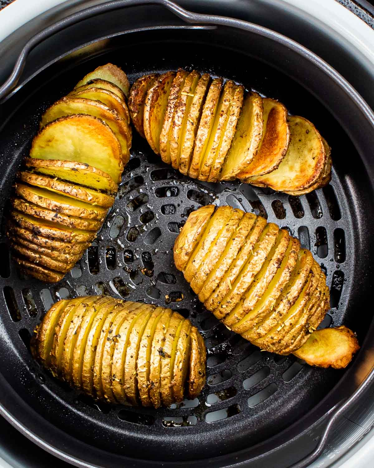 hasselback potatoes in an air fryer.