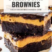 pin for peanut butter brownies.