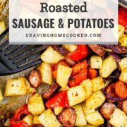 pin for roasted sausage and potatoes.