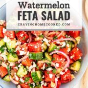 pin for watermelon feta salad.