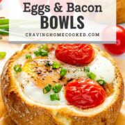 pin for egg and bacon breakfast bowl.