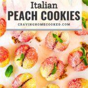 pin for italian peach cookies.