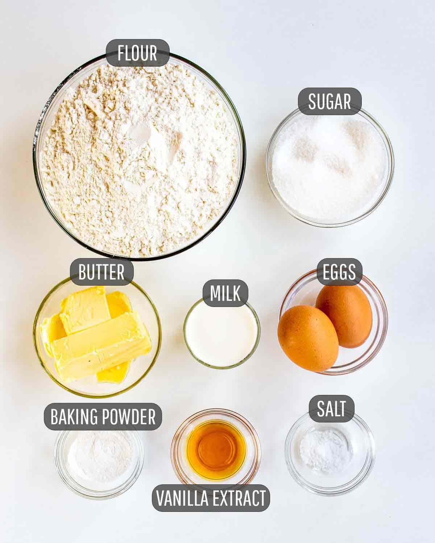 ingredients needed to make italian peach cookies.